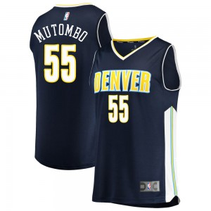 Fanatics Branded Denver Nuggets Swingman Navy Dikembe Mutombo Fast Break Jersey - Icon Edition - Youth