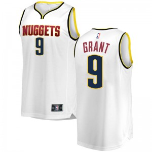 Fanatics Branded Denver Nuggets White Jerami Grant 2018/19 Fast Break Jersey - Association Edition - Youth