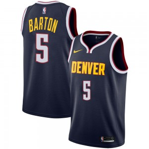 Nike Denver Nuggets Swingman Navy Will Barton Jersey - Icon Edition - Youth